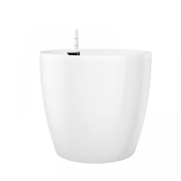 Donica 22 cm z systemem nawadniania EMSA Casa Billiant biała EM-513392