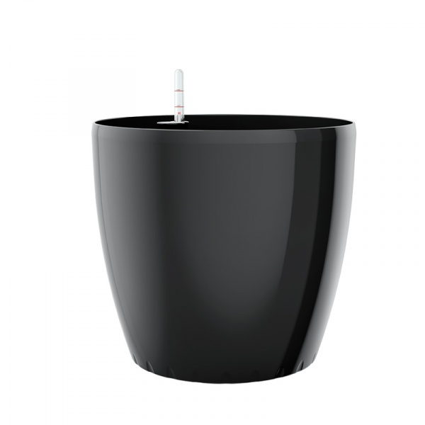 Donica 22 cm z systemem nawadniania EMSA Casa Billiant czarna EM-513393