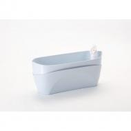 donica samonawadniająca prostokątna 37,5x15,5 cm niebieski