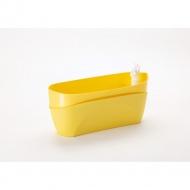 donica samonawadniająca prostokątna 37,5x15,5 cm żółty