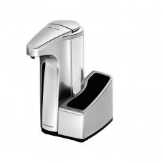 Dozownik bezdotykowy z pojemnikiem na gąbkę Simple Human srebrny