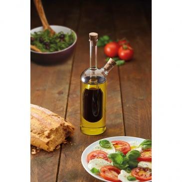 Dozownik do oliwy i octu 2w1 350/100 ml Kitchen Craft World of Flavours przezroczysty