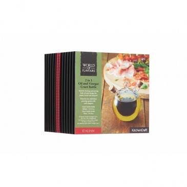 Dozownik do oliwy i octu 2w1 350/70 ml Kitchen Craft World of Flavours przezroczysty