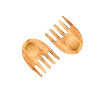 Drewniane łapki do sałaty