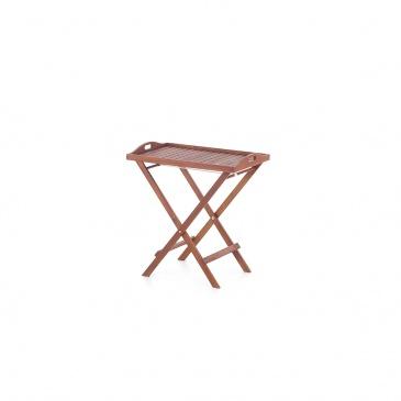 Drewniany stolik ogrodowy - stolik balkonowy - taca - TOSCANA