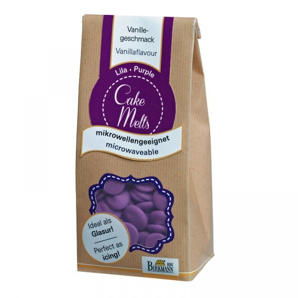 Dropsy czekoladowe Birkmann CakeMelts fioletowe  504 158