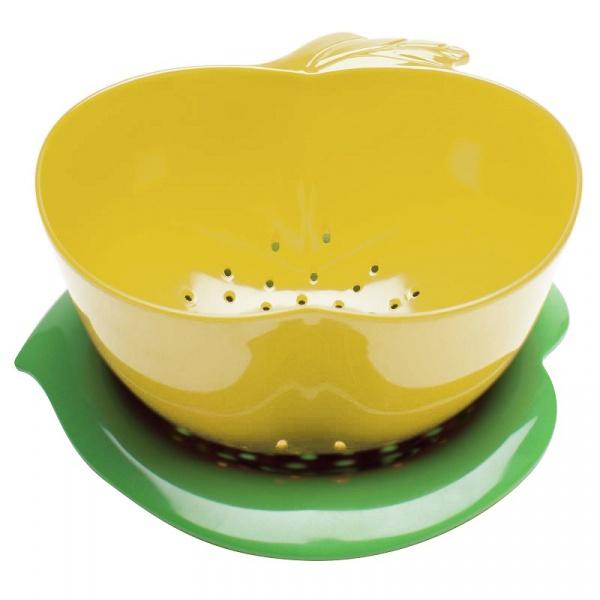 Durszlak z podstawką Zak! Design żółty 2147-A850