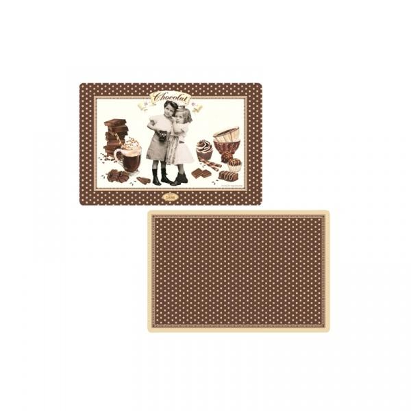 Dwustronna mata na stół Nuova R2S Chocolate Vintage 320 CHOV