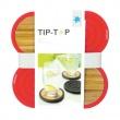 Dwustronne podstawki pod szklanki 4 szt. Contento Tip-Top czerwone CO-655021