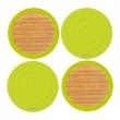 Dwustronne podstawki pod szklanki 4 szt. Contento Tip-Top zielone CO-655020