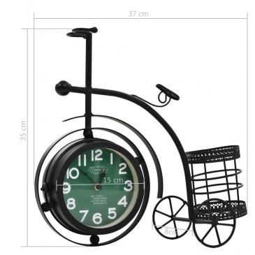 Dwustronny zegar w kształcie roweru trójkołowego, vintage