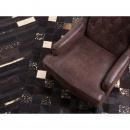 Dywan - brązowy - skóra - patchwork - 140x200 cm - BANDIRMA