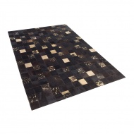 Dywan - brązowy - skóra - patchwork - 140x200 cm - Giaguaro