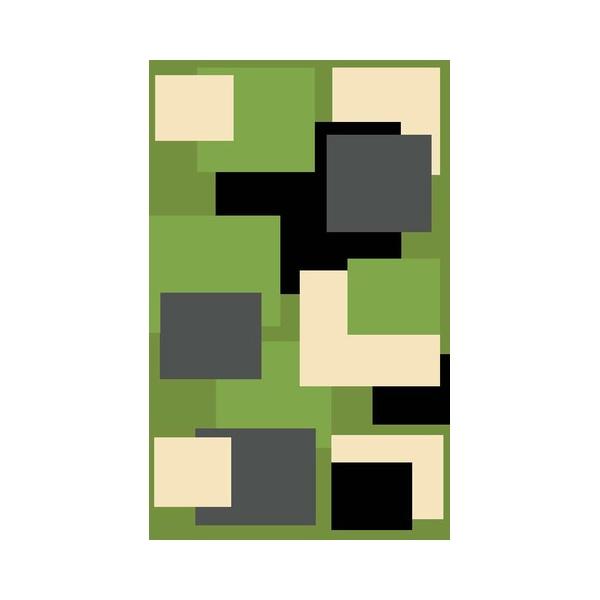 Dywan FIRE 280x370 411 GREEN BLACK 6312 FIRE0207