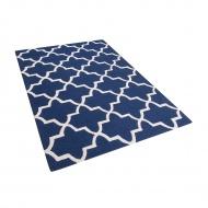 Dywan niebieski wełniany 140x200 cm Coletti