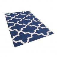 Dywan niebieski wełniany 80x150 cm Coletti