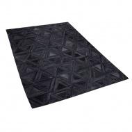 Dywan skórzany czarny 140 x 200 cm KASAR