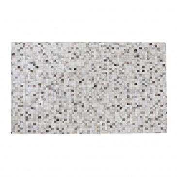 Dywan szaro-beżowy 160 x 230 cm skórzany ADVAN
