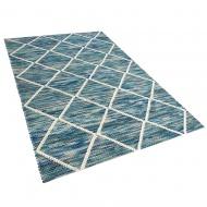 Dywan wełniany 140 x 200 cm niebieskie BELENLI