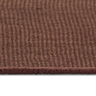 Dywan z juty z podkładem z lateksu, 70 x 130 cm, ciemnobrązowy