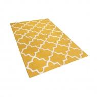 Dywan żółty wełniany 140x200 cm Coletti