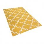 Dywan żółty wełniany 160x230 cm Coletti