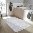 Dywanik łazienkowy 60 x 100 cm Kleine Wolke Newport biały KW-4068100360