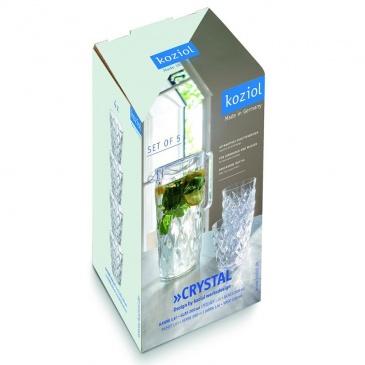 Dzbanek 1,6L Koziol CRYSTAL + 4 kubeczki do napojów transparentne KZ-4007535