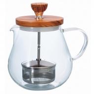 Dzbanek do herbaty 700 ml Hario Olive Wood naturalny