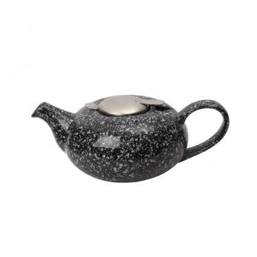 Dzbanek z filtrem 0,6 l London Pottery Pebble czarny nakrapiany