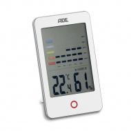 elektroniczny higrometr/termometr wewnętrzny, 8 x 13,5 x 2 cm, biały