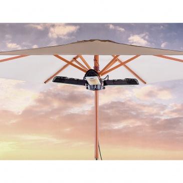 Elektryczny promiennik ogrodowy - trzyramienny grzejnik parasolowy - wiszący - STROMBOLI