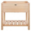 Esschert Design Podwyższona donica, jasne, naturalne drewno, S
