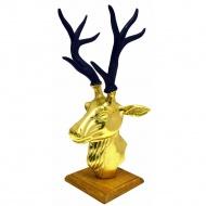 Figurka głowa jelenia 46cm Miloo Home Modern Loft złota