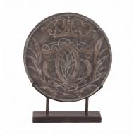 Figurka moneta dekoracyjna na podstawie 41x41x3cm