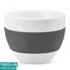 Filiżanka do cappuccino Koziol AROMA biały/ciemny szary KZ-3561342