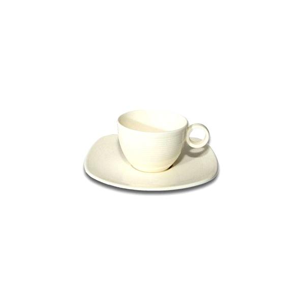 Filiżanka do espresso 10 ml ze spodkiem Villa Italia Biały Len GL0954