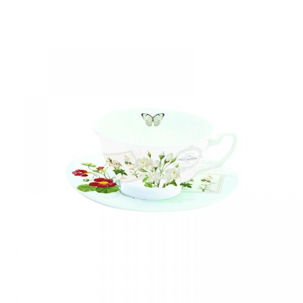 Filiżanka do herbaty Nuova R2S Romantic kwiaty 322 NATU