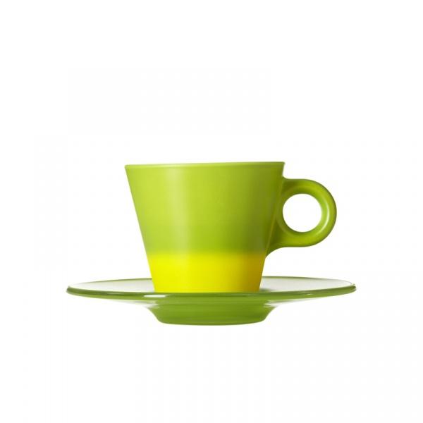 Filiżanka espresso + spodek zielona Leonardo Ooh! Magico 012269