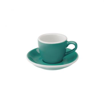 Filiżanka i spodek Espresso 80 ml Loveramics Egg turkusowa LVRM-028