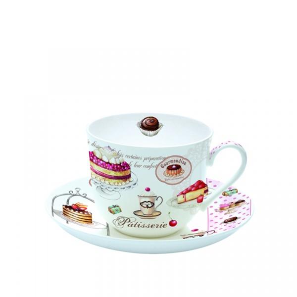 Filiżanka śniadaniowa w prezentowym pudełku Nuova R2S Romantic 318 PATI