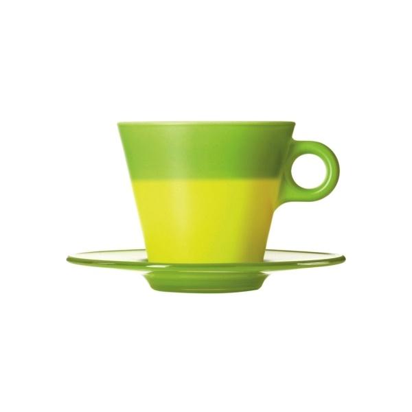 Filiżanka + spodek zielona Leonardo Ooh! Magico 012275