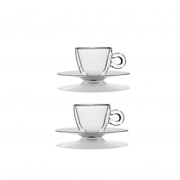 Filiżanki termiczne do espresso 65 ml 2 szt. Luigi Bormioli szklane