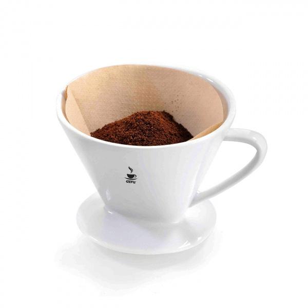 Filtr porcelanowy rozmiar 2 do kawy Gefu Sandro biały G-16030