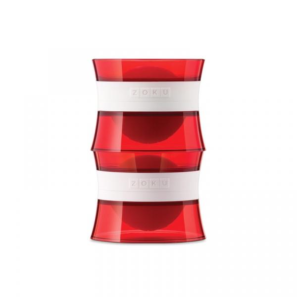 Foremka do lodu ICE BALL 2 kule Zoku czerwona ZK118