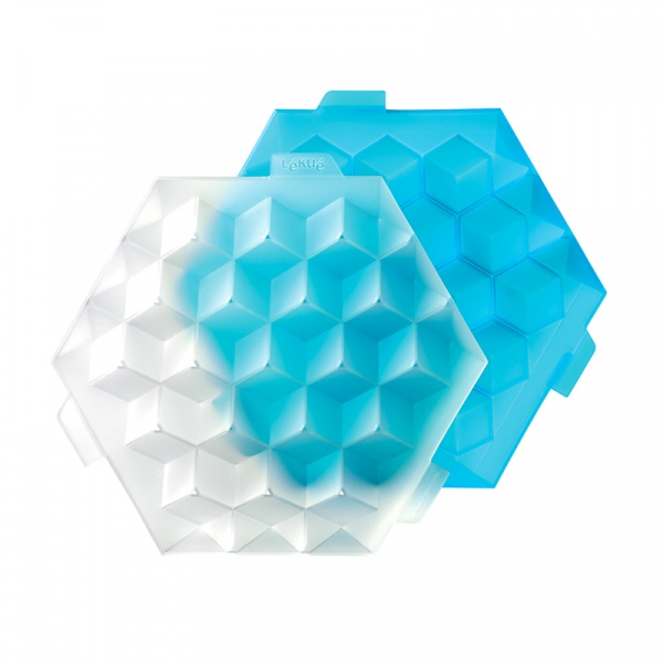 Foremka do lodu Lekue Ice Cube Hielo niebieska  0250500Z10C003