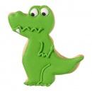 Foremka do wykrawania ciastek Krokodyl Birkmann srebrna