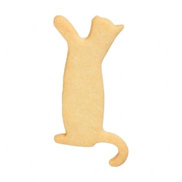 Foremka do wykrawania ciastek Proszący Kotek Birkmann srebrna