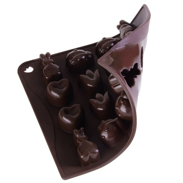 Foremka na czekoladki lub kostki lodu wiosna 16 sztuk Pavoni CHOCOSPRIMRS