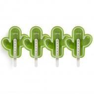 Foremki do lodów na patyku Kaktus XL zestaw 4 szt Lekue zielone